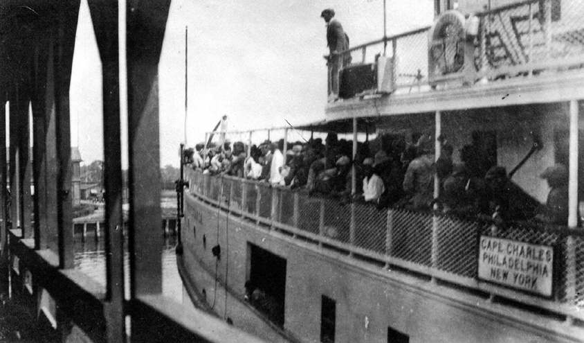 Strawberry Pickers Arrive In Cape Charles On The Ferry